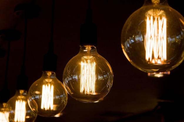 Retro edison luz lâmpada decoração