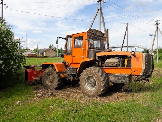 Retro escavadeira. máquina de equipamentos pesados