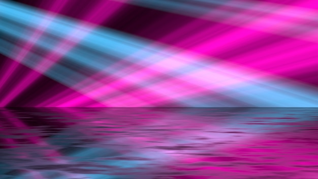 Retrô luz de fundo rosa e azul