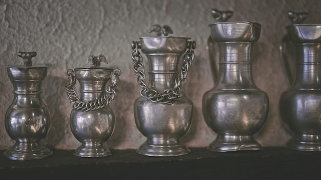 Retro metal jug collectible