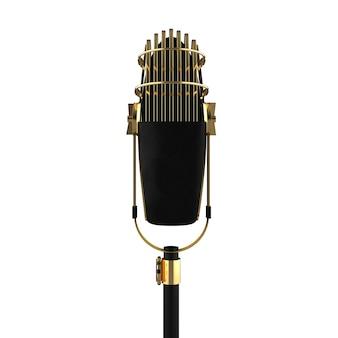 Retro ouro dispositivo de fala metálico objeto de visualização de gravador vintage dourado