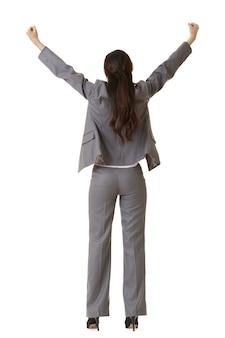 Retrovisor de mulher de negócios