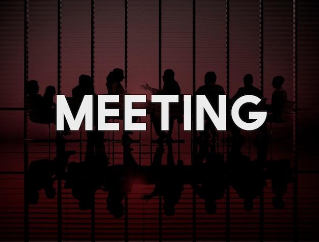 Reunião conferência seminário discussão falando conceito