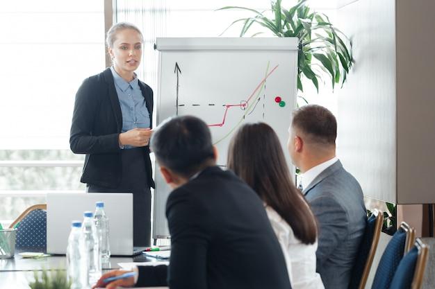 Reunião corporativa de pessoas de negócios