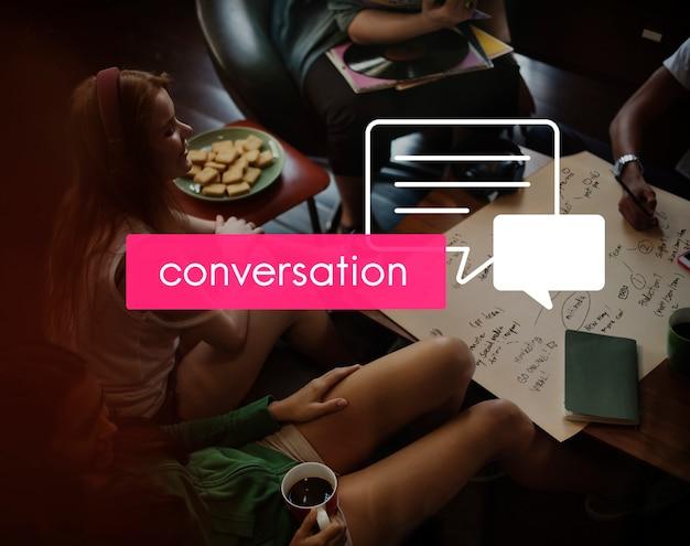 Reunião de conversação de compartilhamento de conferência de comunicação