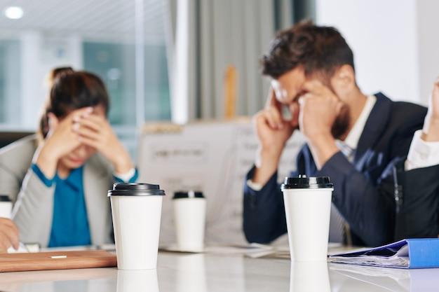 Reunião de empresários após a pandemia