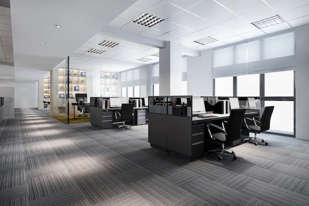 Reunião de negócios e sala de trabalho no prédio de escritórios