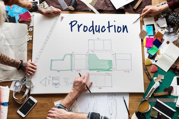 Reunião do plano de negócios de produção