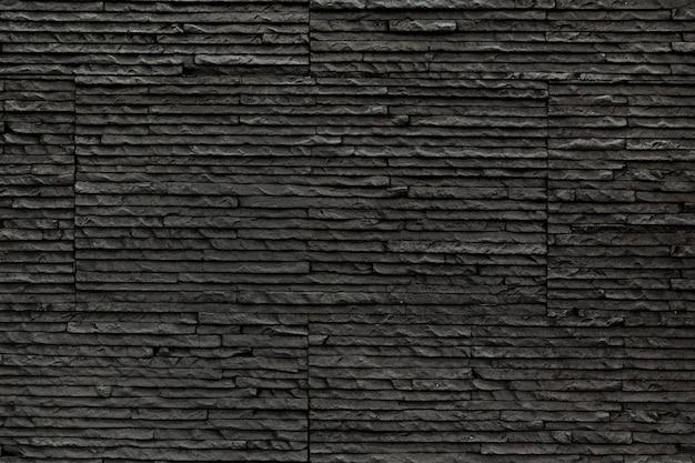 Revestimento decorativo de pedra preta