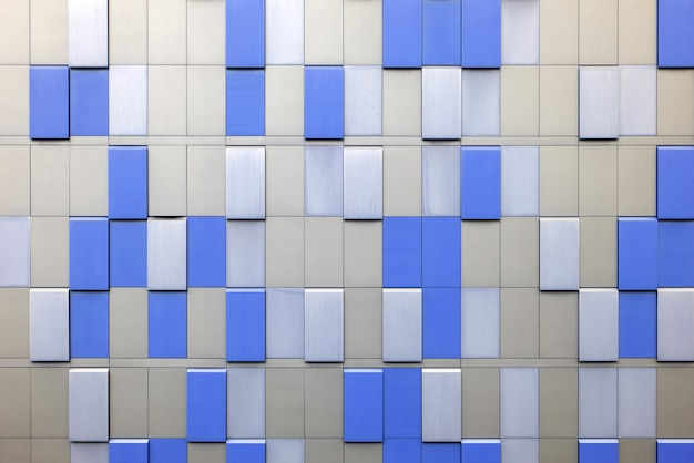 Revestimento externo de edifício industrial. fundo arquitetônico abstrato.