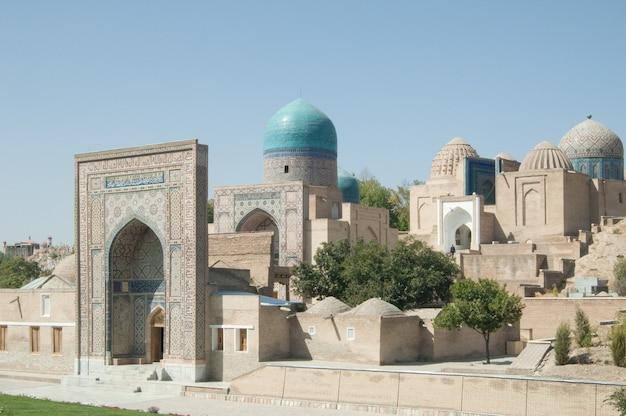 Revisão externa do registan em samarkand. arquitetura antiga da ásia central