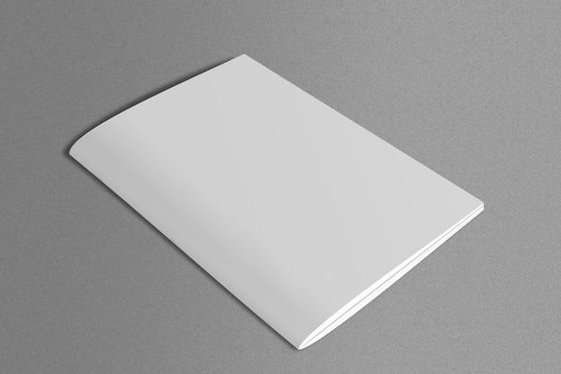 Revista branca em superfície de mármore