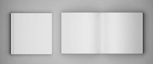 Revista de brochura quadrada em branco