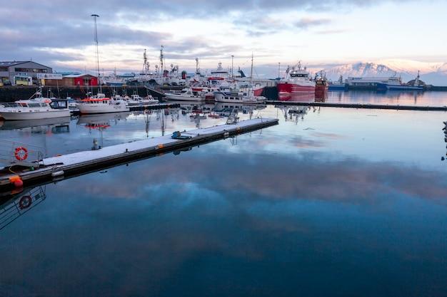 Reykjavik, islândia - 2 de janeiro de 2018 reykjavik, a capital da islândia