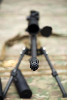 Rifle com silenciador