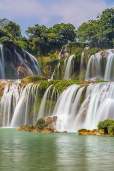 Rio de pedra limpa e selva