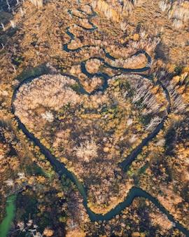Rio em forma de coração