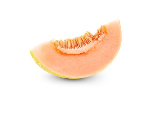 Rip melão isolado na superfície branca