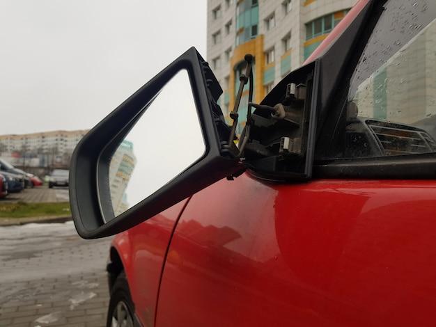 Risco e perigo na estrada closeup