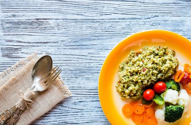 Risoto com legumes