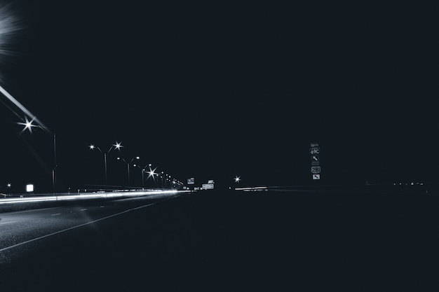 Road at night background