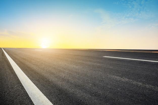Road sunlight design background conceito de textura de transporte