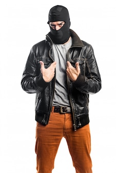 Robber fazendo um gesto de surpresa