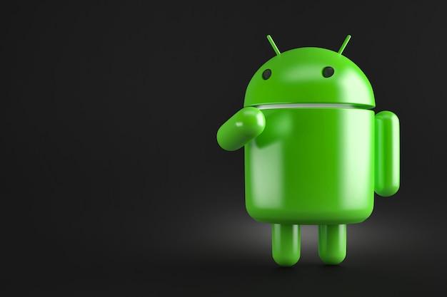 Robô android robusto. ilustração 3d. contém caminho de recorte