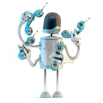 Robô com tubos de telefone