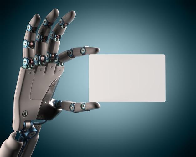 Robô de cartão em branco