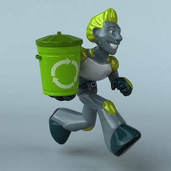 Robô verde - personagem 3d