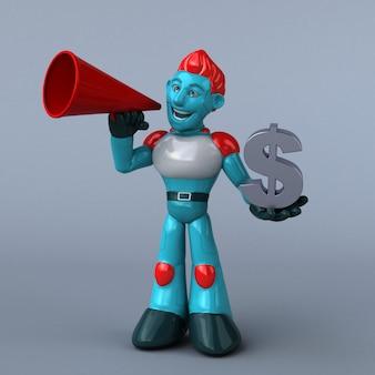 Robô vermelho - ilustração 3d