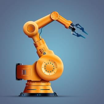 Robotização, trabalhador, robô