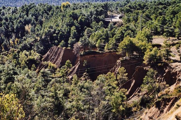 Rochas de paisagem na floresta espanha