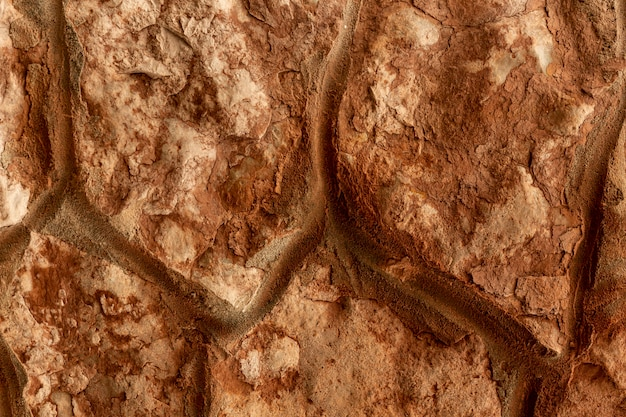 Rochas e pedras com superfície áspera