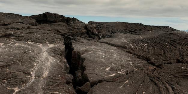 Rochas vulcânicas, punta espinoza, ilha fernandina, ilhas galápagos, equador