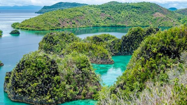 Rock islands em peanemo, raja ampat, papua ocidental, indonésia