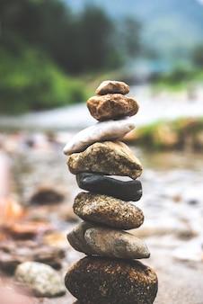 Rock, pedra equilíbrio zen