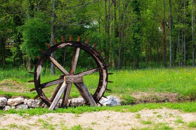 Roda d'água, em, a, rio