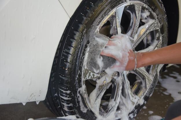 Roda da espuma da lavagem de carros