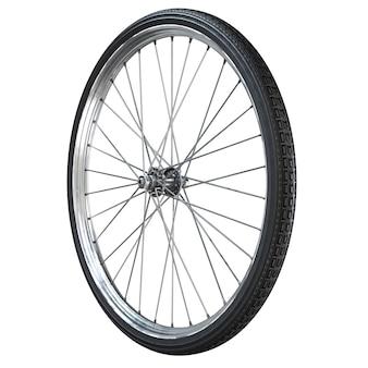 Roda de bicicleta isolada no branco