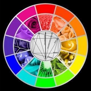 Roda de cores estilizadas