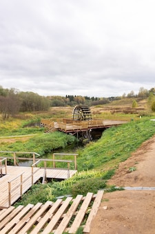 Roda de moinho de água de ferro tradicional