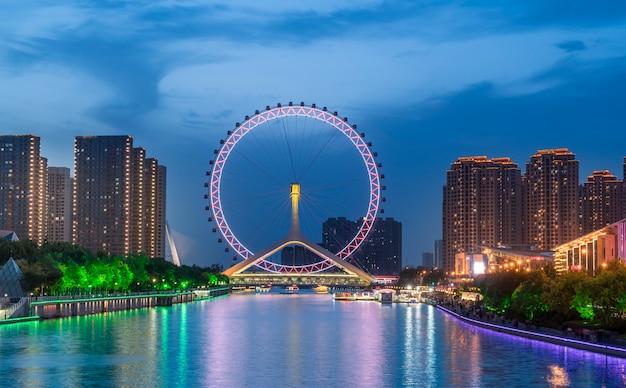 Roda gigante, em tianjin, china