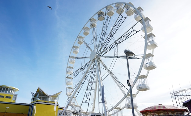 Roda gigante em um parque temático