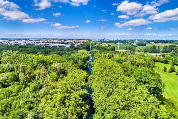 Ródano - canal do reno perto de estrasburgo - alsácia, frança