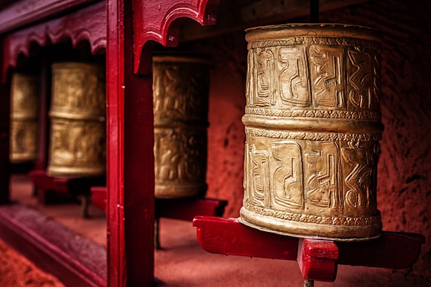 Rodas de oração budista, ladakh