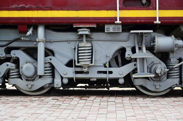 Rodas de uma locomotiva moderna russa