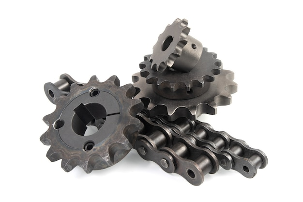 Rodas dentadas de acionamento e correntes de rolos de acionamento industriais