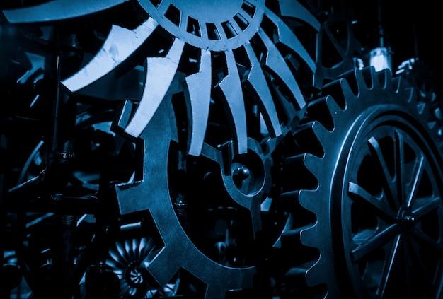 Rodas dentadas grandes no motor